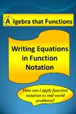 Writing Linear Equations in Function Notation for Real-World Situations