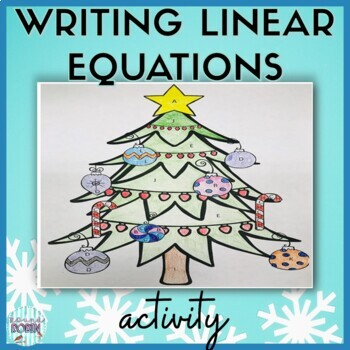 Writing Linear Equations Christmas Worksheets Teaching