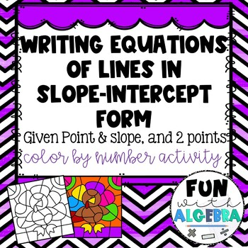 Writing Linear Equations in Slope-Intercept Form CBN {Thanksgiving}