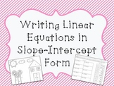 Writing Linear Equations in Slope-Intercept Form: Color by Number!