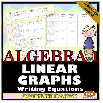 Linear Equations: Writing in Slope-Intercept Form and Standard Form from a Graph