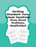Writing Linear Equations in Standard Form from Word Proble