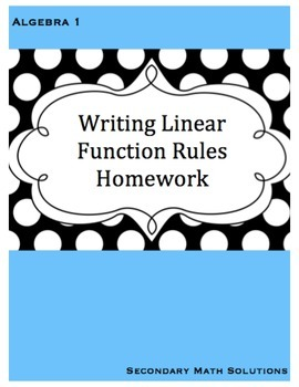 Writing Function Rules Practice