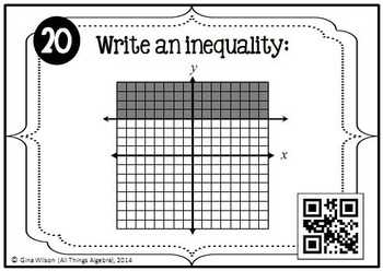 Linear Inequalities Task Cards