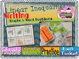 Writing Linear Inequalities from Graphs & Word Problems Complete Lesson
