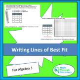Writing Lines of Best Fit