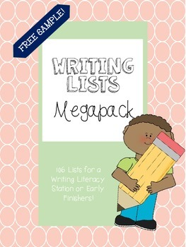 Writing Lists Galore Megapack Sample