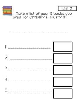 Writing Lists-My List Book Christmas Addition