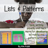 Writer's Workshop: Lists and Patterns by Kim Adsit aligned with Common Core