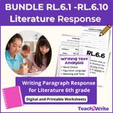 Writing Literary Analysis Paragraphs Grade 6 Common Core (