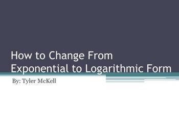 Writing Logarithms