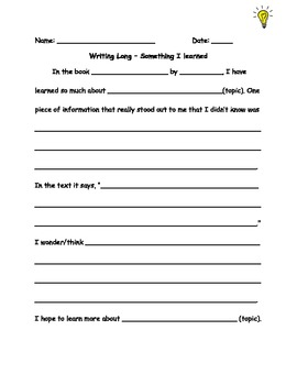 Writing Long about NF Texts