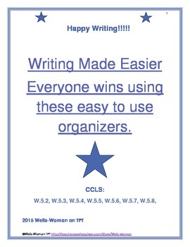 Writing Made Easier Everyone wins using these easy to use organizers.