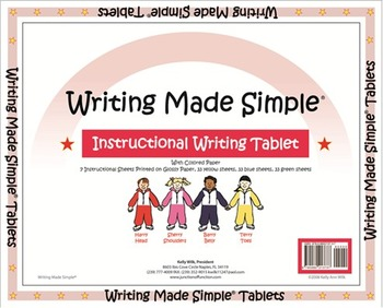 """""""Writing Made Simple"""" Color Handwriting Tablet"""