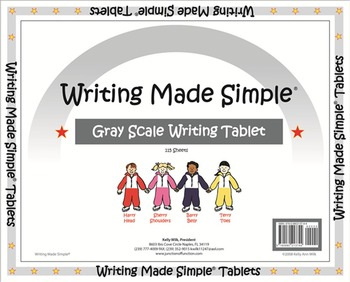 """""""Writing Made Simple"""" Grey Scale Handwriting Tablet"""