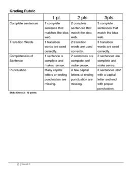 Writing Main Idea Sentences for Expository Writing