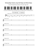 Writing Major Scales Using Half Steps and Whole Steps