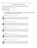 Writing Major Scales Worksheet