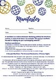 Writing Manifestos - Worksheet