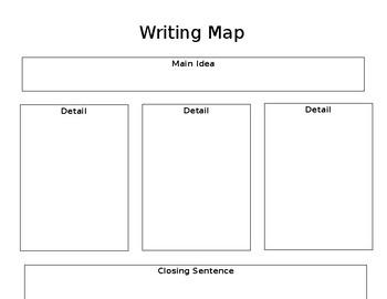 Writing Map Graphic Organizer