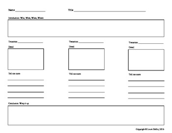 Writing Map It Out Graphic Organizer- Common Core ELA W.3
