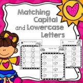 Writing Matching Capital and Lowercase Letters Worksheets