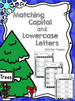 Winter Writing Matching Capital and Lowercase Letters