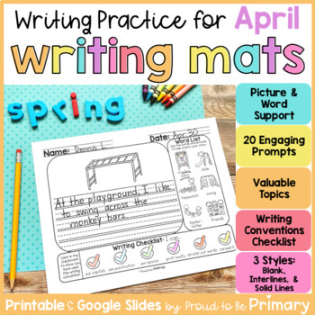 April Writing Paper and Prompts