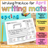 April Writing Prompts Practice Mats