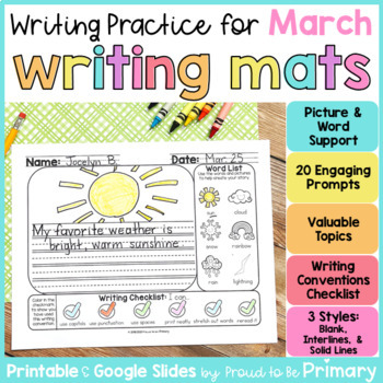 March Writing Paper and Prompts