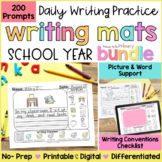 Writing Prompts Practice Mats BUNDLE  | Printable & Digita