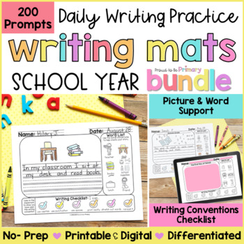 Writing Prompts Activities BUNDLE  | Printable & Digital | Distance Learning
