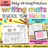 Writing Prompts Activities BUNDLE + Writing Posters | Printable & Digital
