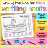 May Writing Prompts Practice Mats