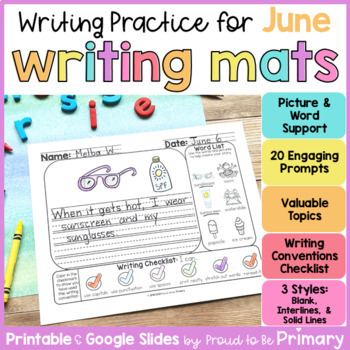 Daily Writing Practice Mats for June