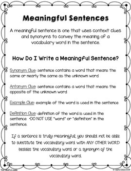 Writing Meaningful Sentences