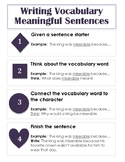 Writing Meaningful Vocabulary Sentences