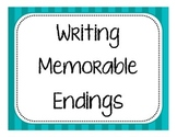 Writing Memorable Endings