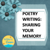 Writing Memory Poetry, Creative Writing, Memoir, Substitute Plan, Rubric