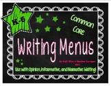 {FREE} K-6 Common Core Writing Menu Set - Six Traits and F
