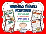 Writing Menu Posters {27 Posters & 8 Writing Templates) {Sports Theme}
