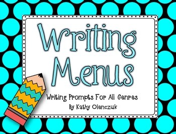Writing Menus -- Writing Prompts For All Genres