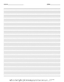 Writing Paper - Midline