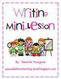 Writing Mini-Lesson (using Fancy Nancy books)