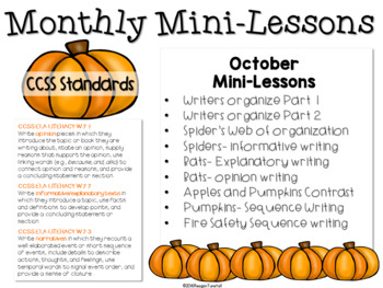 Writing Mini-Lessons October Second Grade