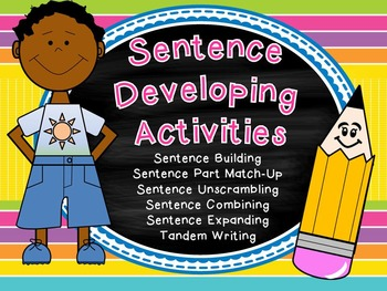 Writing Mini Lessons Sentence Building Activities Games Task Cards Grammar