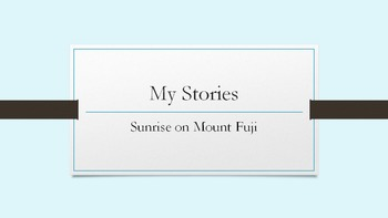 Writing Mini-Lessons: Sunrise on Mount Fuji - Mini lesson and prompt activity