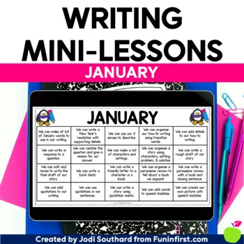 Writing Mini-Lessons for January