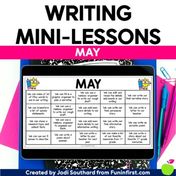 Writing Mini-Lessons for May