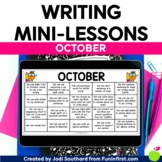 Writing Mini-Lessons for October